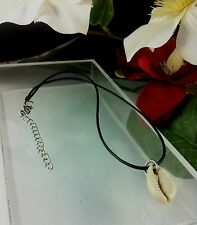 Necklace Choker 44 cm White Cowrie Shell Aztec Kuchi Gypsy Tribal Surf Jewelry