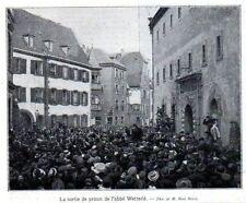 1910  --  COLMAR   LA SORTIE DE PRISON DE L ABBE WETTERLE   3L258