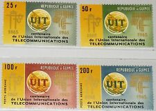 GUINEA 1965 298-01 A 380-81 C73-74 ITU Emblem Communication UIT Fernmeldeunion**