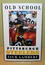 "JACK LAMBERT ""Old School Pittsburgh Steelers"" Poster"