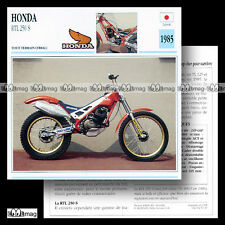 #031.17 HONDA RTL 250 S 1985 Trial Fiche Moto Motorcycle Card