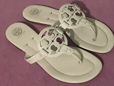 Tory Burch Miller 2 Logo Leather Sandal, White Size 10