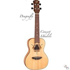 Luna Dragonfly Solid Spruce Top Concert Size Ukulele with Gig Bag Model DFY SPR