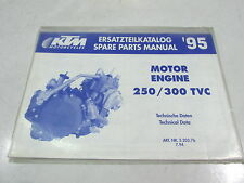 SPARE PARTS ENGINE MANUAL ERSATZTEILKATALOG KTM 250 300 TVC 1995 3.203.76