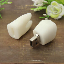 32GB Tooth Shape White USB 2.0 Flash Memory Stick Storage Drive U Disk Cute