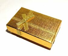 Gold Bowknot With Golden Lace Jewelry Ring/Necklace/Earrings Gift Box