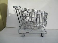 Small Chrome Metal Shopping Grocery Cart Display Child's Toy Doll Bear Size 4299