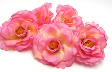 5X Pink Yellow Artificial flowers Carnations Party Wedding Decoration Dia 7.5cm