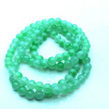 New 8MM 30pcs Loose Round Crackle Art Crystal Glass Round Charm Beads Green
