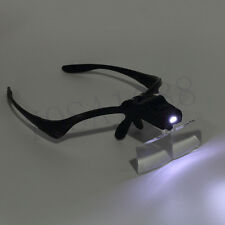 1pc 5X Lens Adjustable Loupe Headband Magnifying Glass Magnifier with LED