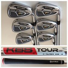 2016 TaylorMade PSi Irons Set 6-PW+AW KBS Tour C-Taper 105 Regular Flex Shafts