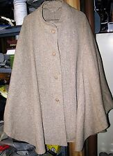 tan tweed winter cape womens one size fits most from blair