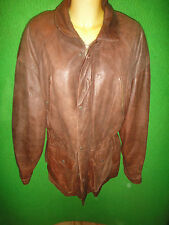 Adventure Bound Mens Size Large Thinsulate Brown Leather Long Coat Jacket SAFARI