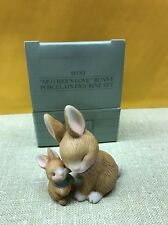 "Avon ""Mothers Love"" Mom & Child Bunny Porcelain Figurine Set, Easter, New!"
