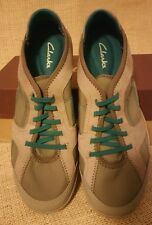 Womens Clarks  Arbor Jade Walking Shoes Size 6M Gray Green Casual New NIB