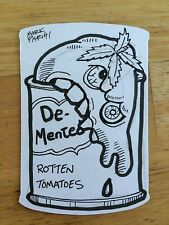 WACKY PACKAGES 2014 SHAPED SKETCH CARD MARK PARISI DEMENTED TOMATOES ROTTEN ART