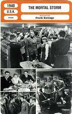 Fiche Cinéma. Movie Card. The mortal storm (USA) Frank Borzage 1940