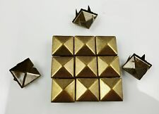 200pcs 12mm Bronze Pyramid Studs Spots Leathercraft Punk Shoes Jackets Accessory