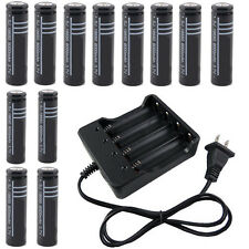 12pcs 18650 Li-ion Rechargeable Battery and Battery Charger XQ