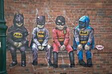 banksy STYLE  BATMAN kids  costume street graffiti art print A1 FOR GLASS FRAME