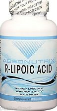 300mg R-Lipoic Acid 60 Capsules Antioxidant Carbohydrate Metabolism Absonutrix