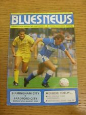 25/08/1986 Birmingham City v Bradford City  (Creased). Trusted sellers on ebay b