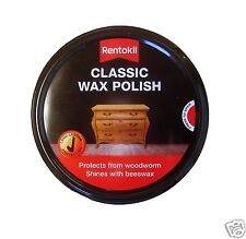 Rentokil Classic Woodworm Preventative Wax Furniture Polish FC20