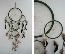 HUGE round GREEN 36 INCH DREAMCATCHER feather bead handmade LARGE dream catcher