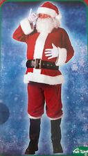 NEW COMPLETE VELOUR SANTA CLAUS SUIT COSTUME 40-48 STD STANDARD