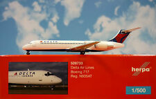 Herpa Ali 1:500 Boeing 717 Delta Air Lines N935AT 528733