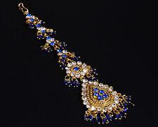 Der neue, kleine, Bollywood Tikka Bauchtanz Stirnschmuck Haarschmuck- Königsblau