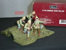 BRITAINS 41104 WW1 GERMAN TRENCH OVER THE TOP METAL TOY SOLDIER FIGURE SET