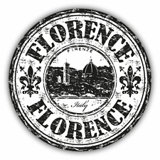 "Florence Italy Grunge Stamp Travel Car Bumper Sticker Decal 5"" x 5"""