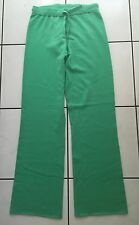 QUEEN FOR A DAY 100% Kaschmir Hose Joggingshose Grün 36 Cashmere Pants Green S