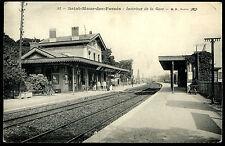 CPA- SAINT-MAUR-DES-FOSSES - Intérieur de la Gare.