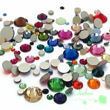 144 pcs Mixed Sizes & Colors Swarovski 2058/2088 Flatbacks No-Hotfix Rhinestones