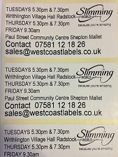 500 Personalised Slimming World Consultants Labels - 70mm x 35mm