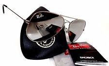 New RAY-BAN RB3026 mirror lens aviator 62mm sunglasses made in ITALY + case
