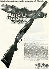 1975 Print Ad of Nikko The Golden Eagle Over Under Shotgun