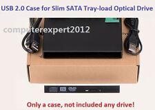USB 2.0 Slim External Case Enclosure for 12.7mm SATA CD DVD RW Burner DVD ODD