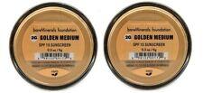 2 x bareMinerals I.D. SPF 15 Foundation GOLDEN MEDIUM 2G LARGE 9G/0.3 Oz