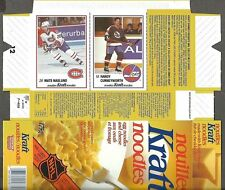 1989-90 Kraft Noodles Box Flat, Canadiens' Mats Naslund, Jets' Randy Cunneyworth
