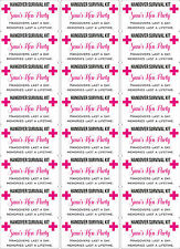 Personalised Hangover Survival Kit Stickers 24 Matt Paper Stickers Hen Party