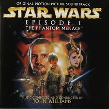 STAR WARS - THE PHANTOM MENACE CD OST / Soundtrack VGC Poster inlay