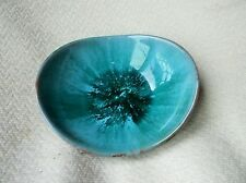 COLLECTABLE AQUA DRIP GLAZED BROWN DISH BLUE MOUNTAIN POTTERY CANADA ORIG LABEL