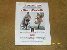 Stephanie Mills sheet music STARTING OVER from film 1979 7 pages (VG- shape)