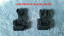 Flip up Front Rear Iron Sight Set Rapid Transition Diamond Low Profile
