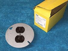 "***NEW*** HUBBELL HBL5282 BROWN SPEC GRADE DUPLEX ON 4"" ROUND BOX COVER 15 AMP"