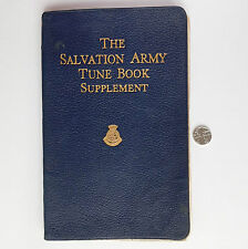 Salvation Army Tune Book Supplement 1943 autograph 1940s Wartime WW2 church hymn