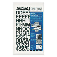 CHARTPACK PRESS ON STICK ON VINYL LETTERS & NUMBERS HELVETICA FONT BLACK 3/4""